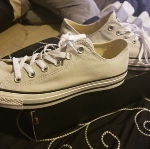 Brand new in box light grey Converse sneakers